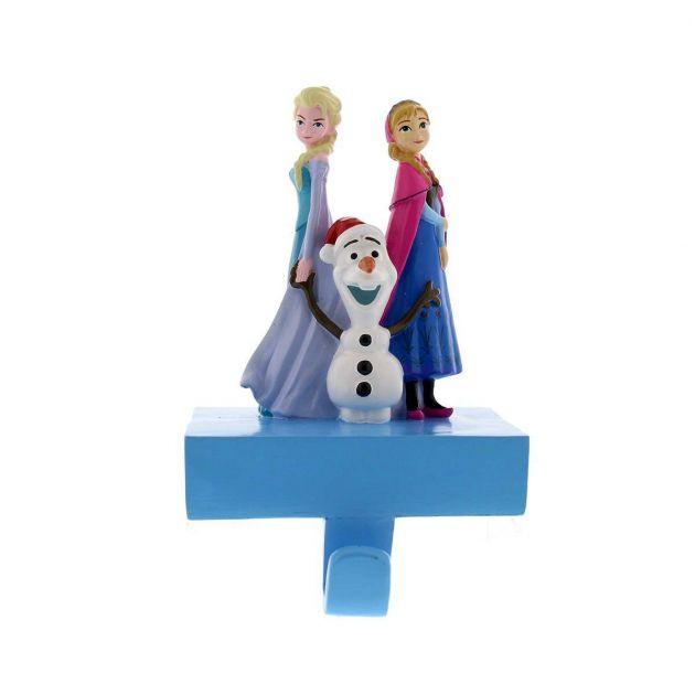 13cm Frozen Anna, Elsa & Olaf Stocking Holder Christmas Decoration