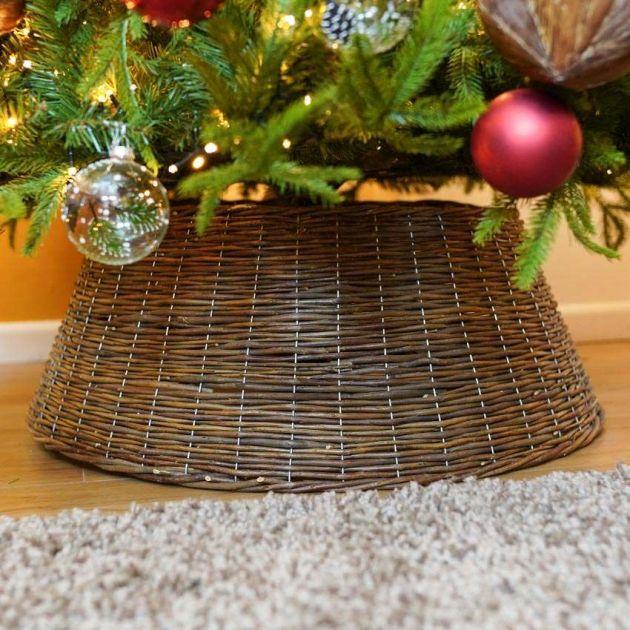 40cm x 57cm Brown Natural Willow Christmas Tree Skirt