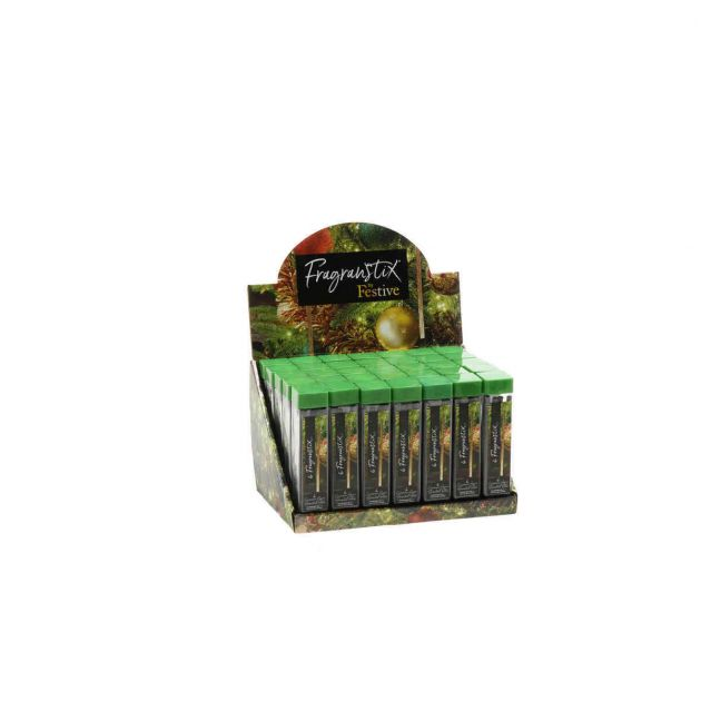 Cinnamon Spice Scented Christmas Tree Fragrance Sticks, 6 Pack