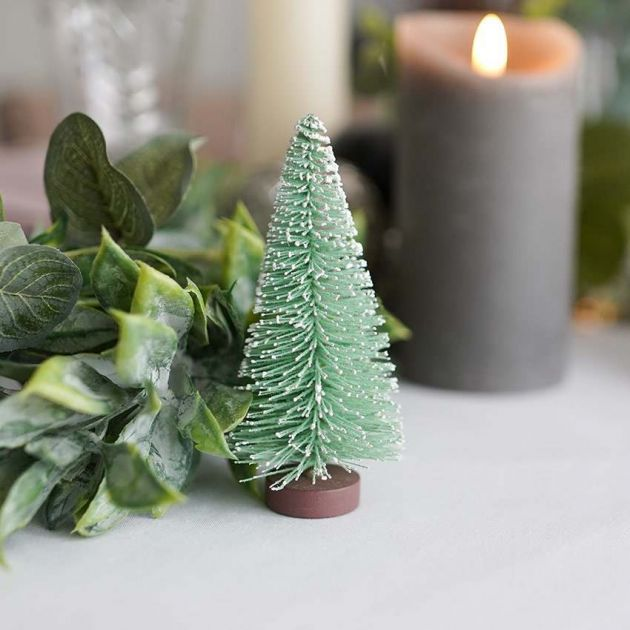 10.5cm Frosted Spruce Bristle Standing Christmas Tree
