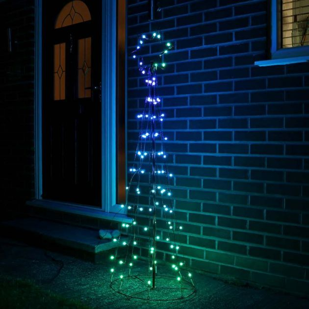 5ft Rainbow Christmas Tree with Remote Control, 108 Multi Colour LEDs
