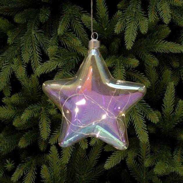 18cm Iridescent Battery Star Christmas Hanging Light