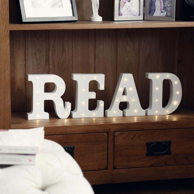 Read Battery Light Up Circus Letters, Warm White LEDs