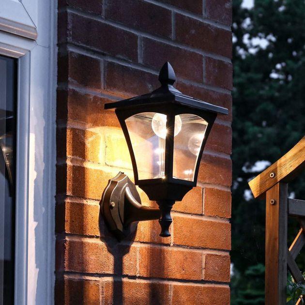 Outdoor Solar Security Wall Light, 34cm