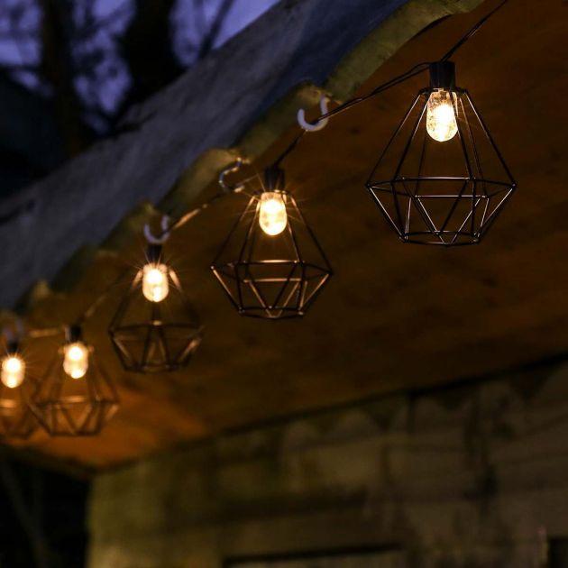 Solar Metal Terrarium Cage Fairy Lights