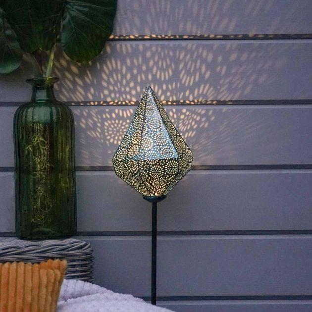 Solar Moroccan Blue Stake Light