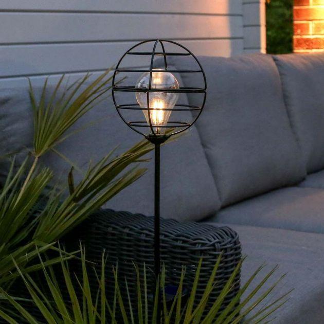 Solar Sphere Filament Effect LED Stake Light