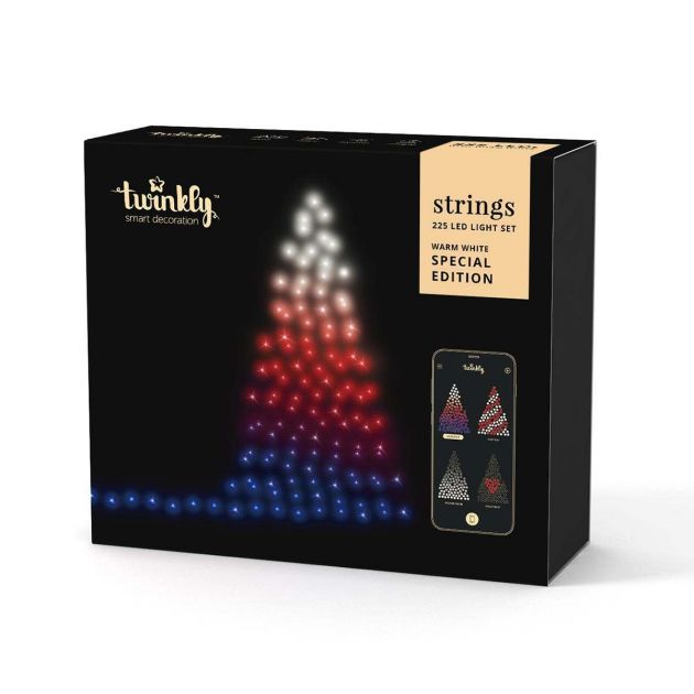 25m Smart App Controlled Twinkly Christmas Fairy Lights, Gold Edition