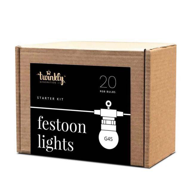 10m Smart App Controlled Twinkly Festoon Lights - Gen II