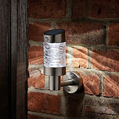 Solar Stainless Steel Security Wall Light with PIR Sensor