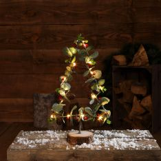 40cm Battery Tree and Foliage Christmas Table Top Decoration