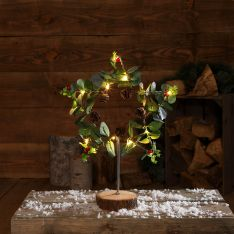 40cm Battery Star and Foliage Christmas Table Top Decoration