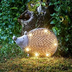 Solar Novelty Woodstone Hedgehog Light