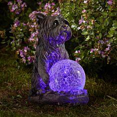 Solar Novelty Dog Figure