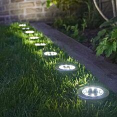 Solar Ground Spike Light, 8 Pack