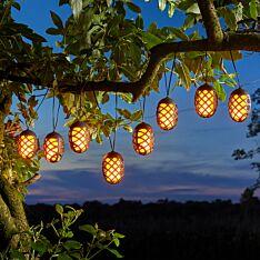 2.7m Solar Cool Flame Fairy Lights