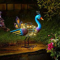 Solar Spiral Peacock Light
