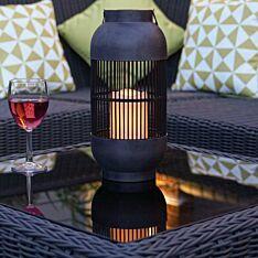 Solar Cylinder Candle Lantern, 33cm