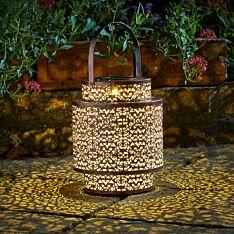 Solar Metal Tangier Lantern