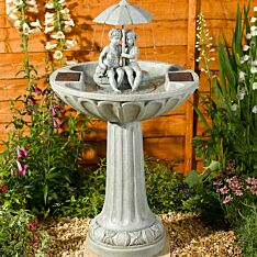 Solar Umbrella Water Feature