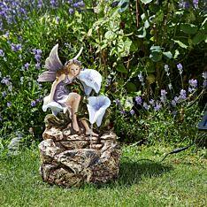 Solar Fairy Liliana Cascade Water Fountain