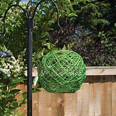 Solar Green Hanging Rattan Lantern