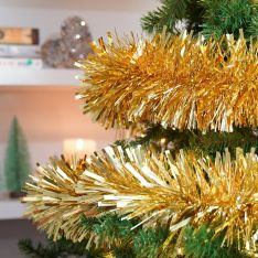 2m Luxury Chunky Cut Tinsel Christmas Tree Decoration