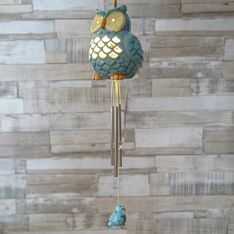 Solar Owl Wind Chime Light
