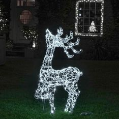 1m Outdoor Standing Reindeer Figure, 160 White LEDs