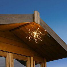 Outdoor Battery Firefly Starburst Hanging Light