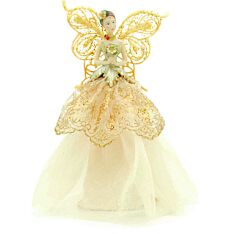 23cm Gold Angel Christmas Tree Topper Decoration