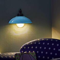 Battery Demi Lamp Blue Wall Light
