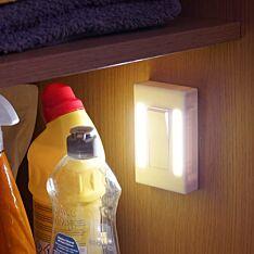 Battery White Twin LED Light Switch Night Light