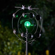 Solar Boreas Wind Spinner Stake Light