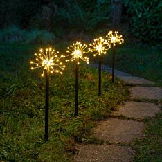 Outdoor Starburst Firefly Stake Lights, 4 Pack