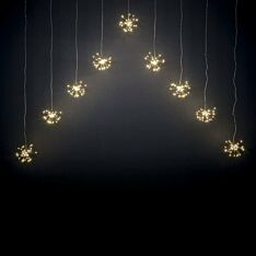 1.6m Outdoor Christmas Firework Curtain Lights, 540 Warm White LEDs