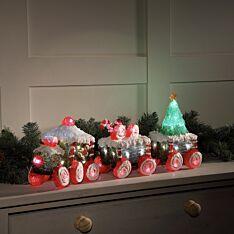 60cm Acrylic Train and Carriage Christmas Figure