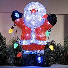 35CM Acrylic Santa Christmas Figure