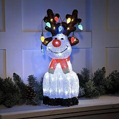 54cm Acrylic Reindeer Christmas Figure