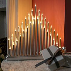 29cm Silver Christmas Candle Bridge