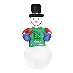 6ft Outdoor Inflatable Snowman Figure with Countdown