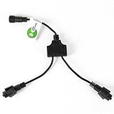 Black Low Voltage Connectable T and Y Connector, 30cm
