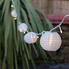 10cm White Chinese Lanterns, Pack of 5