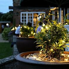 5m Outdoor Battery Silver Firefly Wire Lights