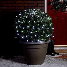10m Outdoor Battery Fairy Lights, Green Cable