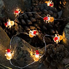 Battery Reindeer Christmas Micro Wire Lights, 20 Warm White LEDs