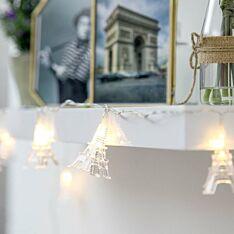 1.8m Eiffel Tower Battery Fairy Lights, 10 Warm White LEDs