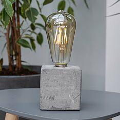 Battery Concrete Teardrop Filament Effect LED Table Lamp