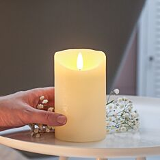 Ivory Battery Real Wax Authentic Flame LED Candle, 12.5cm