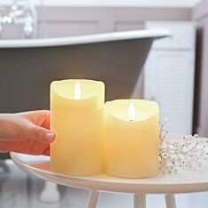 Ivory Battery Real Wax Authentic Flame LED Candle, 2 Pack